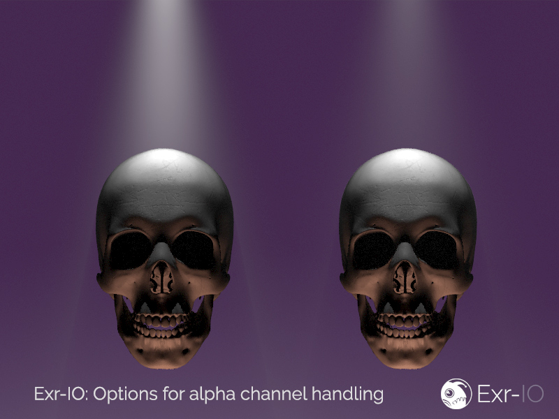 Exr-IO has options to accomodate Photoshop's handling of alpha information