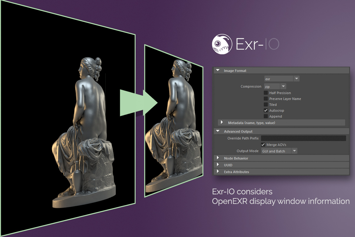 Exr-IO considers OpenEXR display window settings in Photoshop