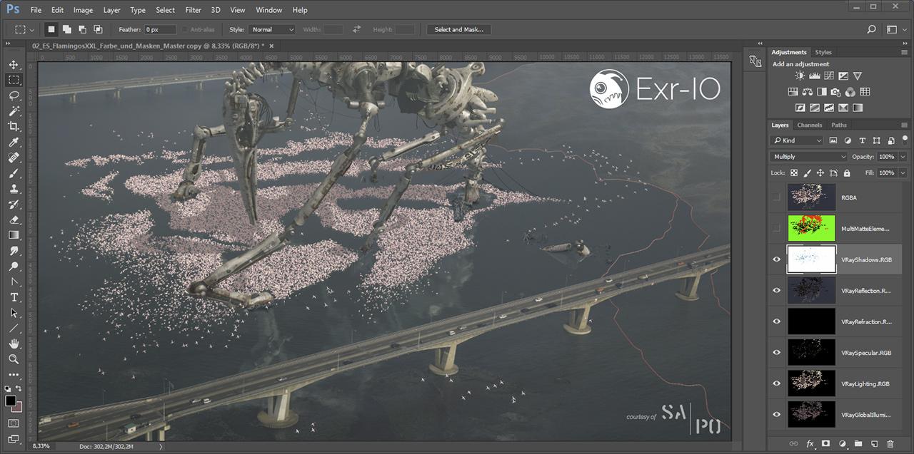 Exr-IO understands Photoshop layer options